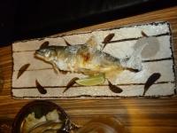 蘆洲居酒屋の鮎塩焼き140201