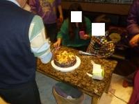 カラオケ屋で誕生ケーキカット140219