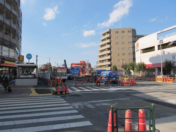 千川駅地上部分の様子。