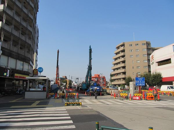 "千川駅地上部分の様子。"""""