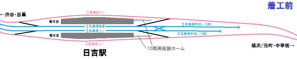 直通線着工前の配線図(上)