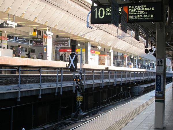 東京駅10番線中央に新設された場内信号機