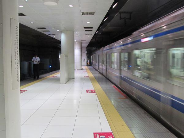 元町・中華街駅横浜方のホーム延長部分。