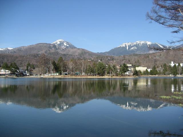 20140327蓼科湖のさくら (17)