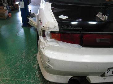 S14 シルビア エアロ持ち込み取り付けがっ!
