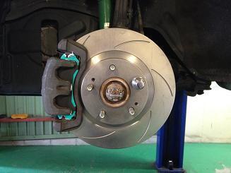 ギャラン VR4 ブレーキ一式交換