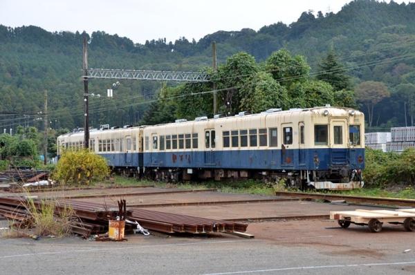 420系電車@新金谷構外側線(2014年11月8日)
