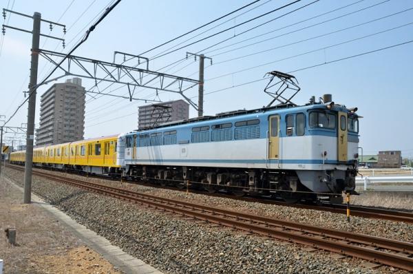 8862レ東京メトロ1000系甲種輸送(2014年5月31日)