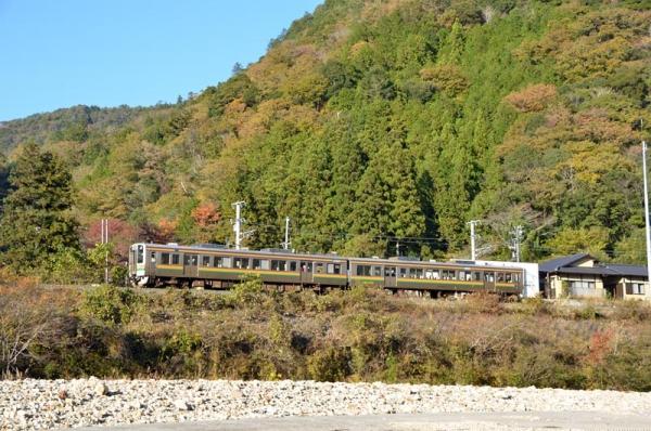 飯田線527M213系普通列車(2014年11月21日)