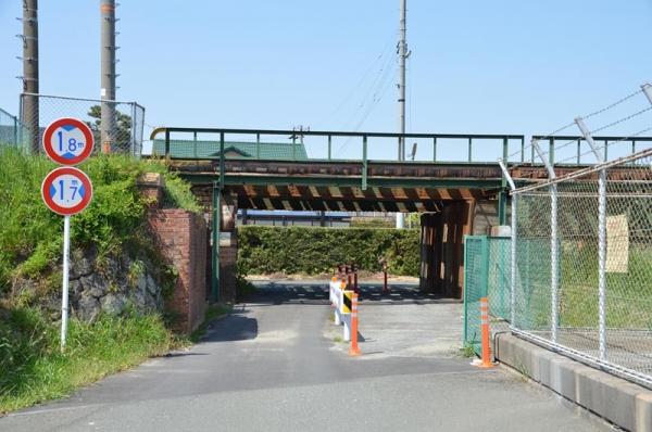 天竜川駅日通専用線跡 (2014年4月27日)
