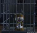 トナカイ(牢屋の中に捕獲されています)