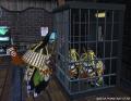 2014年06月09日 00時30分頃 牢屋に捕まる武者リリーパたち(左トウカさん 右あかねさん)を助けようとする武者リリーパ(カルマさん)