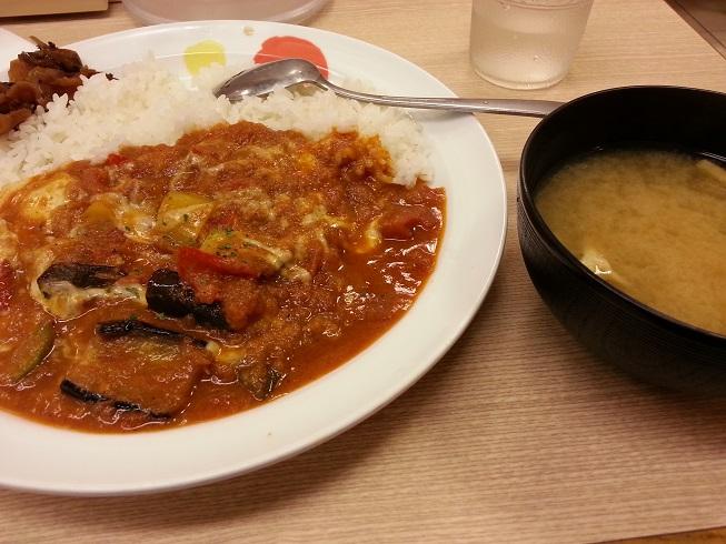 松屋フーズのモッツァレラチーズと夏野菜のカレー (2)
