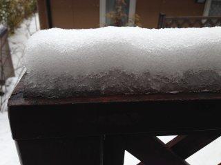s春分の雪