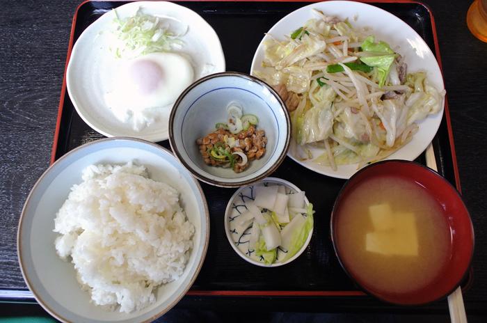 平松食堂@宇都宮市平松本町 野菜炒め定食