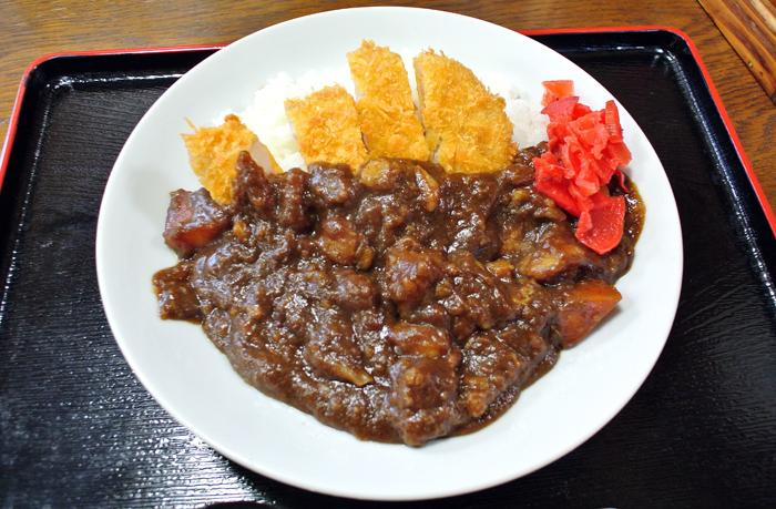 あか堀食堂@上三川町 カツカレー1