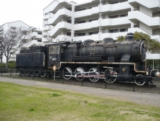 蒸気機関車が展示
