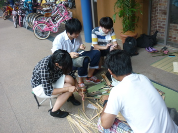 竹細工作り