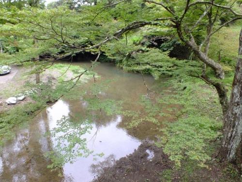 周智郡は遠州森町にある森の石松と清水の次郎長の墓のある寺に渡る川をデジカメ写真撮影した