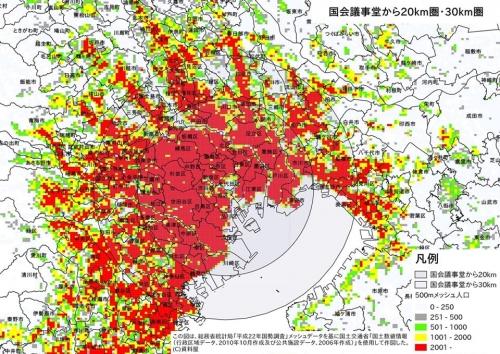 東京都心からの距離帯