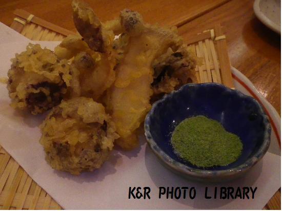 11月24日4種のきのこの天ぷら