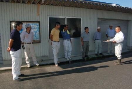 作州津山商工会久米地区工業部家屋補修ボランティア
