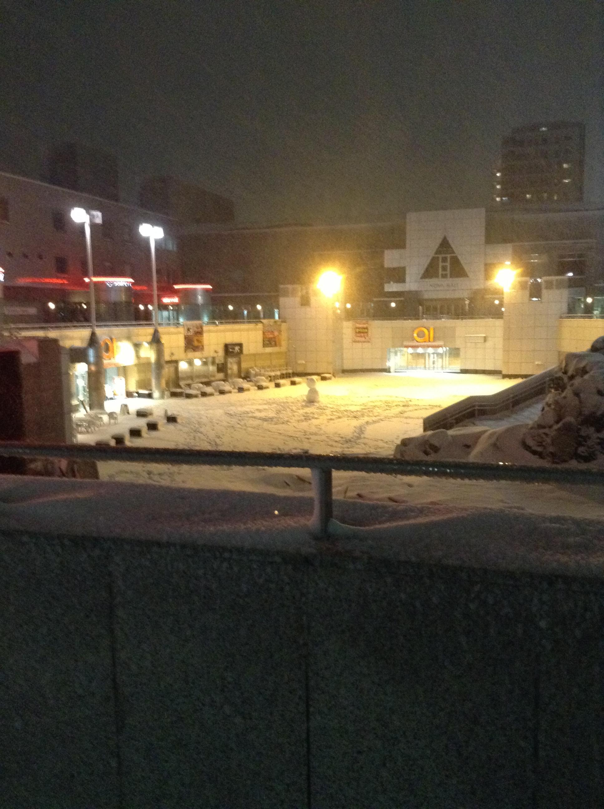 雪のセンター広場
