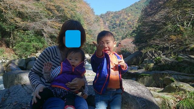 141105 奥津渓にて ブログ用目隠し
