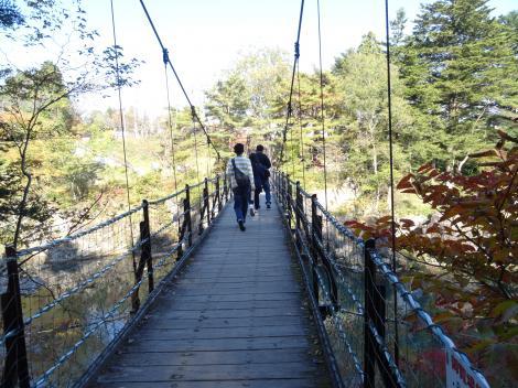 厳美渓 吊り橋