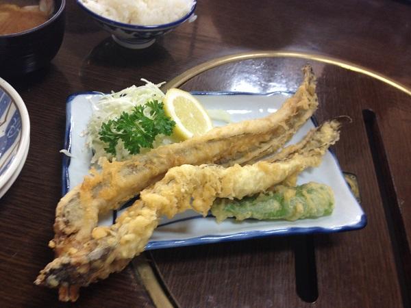 「磯」定番、穴子の天ぷら