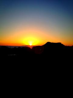 キレイな夕陽
