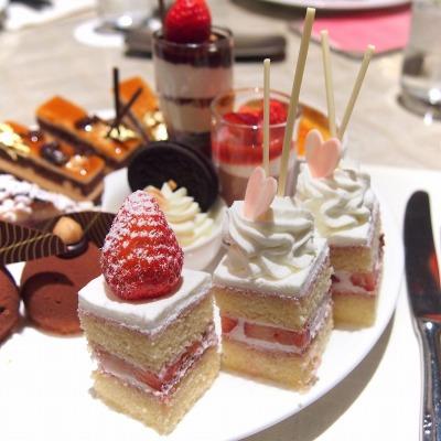 ストロベリーショートケーキ@THE WESTIN TOKYO THE TERRACE 2014年02月