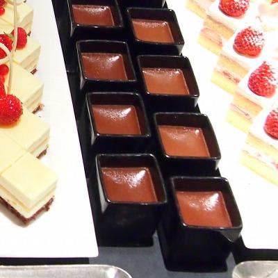 チョコレートのポット・ド・クレーム@THE WESTIN TOKYO THE TERRACE 2014年02月