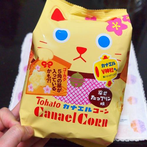カナエルコーン・幸せたっプリン味01@Tohato