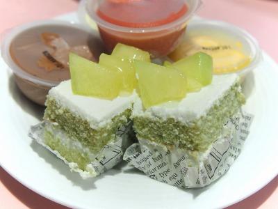 メロンのショートケーキ@TAKANO