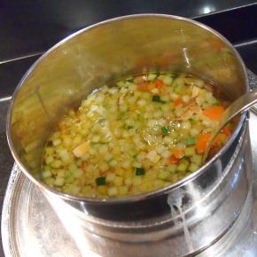 野菜とベーコンのブイヨンスープ01@THE WESTIN TOKYO 2014年03月