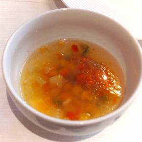 野菜とベーコンのブイヨンスープ02@THE WESTIN TOKYO 2014年03月