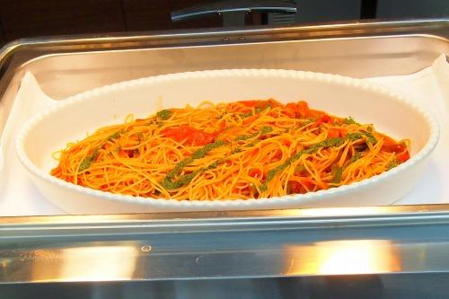 トマトとバジルのスパゲッティ01@東京ベイ舞浜ホテル FINE TERRACE 2014年04月