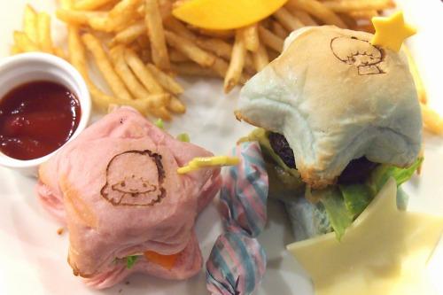 リトルツインスターズハンバーガープレート06@THE GUEST cafe&diner キキララカフェ