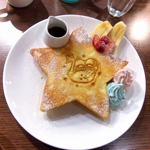 キキとララのふわふわスウィートパンケーキ01@THE GUEST cafe&diner キキララカフェ