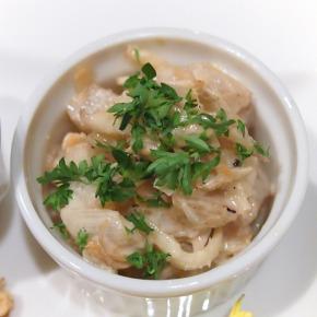 ウドと鶏肉の洋風マヨネーズ和え@Es Passion