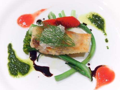 いなだのカツレツ黒オリーブのタルタルソース旬の野菜と共に02@Es Passion
