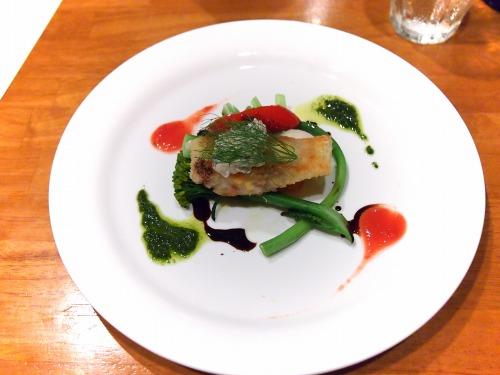いなだのカツレツ黒オリーブのタルタルソース旬の野菜と共に01@Es Passion