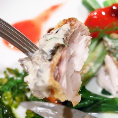 いなだのカツレツ黒オリーブのタルタルソース旬の野菜と共に04@Es Passion