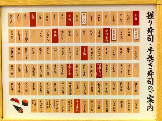 食べ放題メニュー02@築地玉寿司 2014年06月