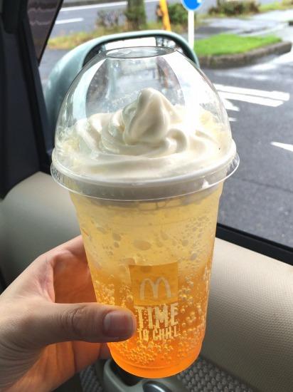 オランダマックフロート パッションオレンジ01@McDonalds