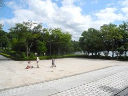 鏡山公園でアコーディオン20140830-1