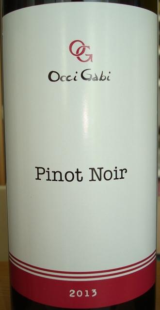 Pinot Noir OcciGabi 2013