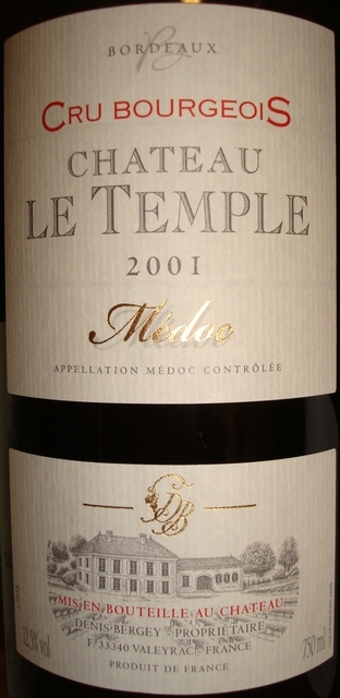 CHateau Le Temple 2001