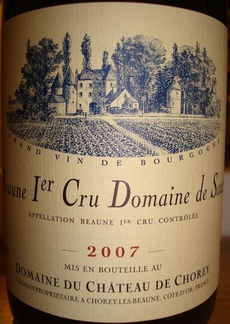 Beaune 1er Cru Domaine de Seau Domaine du Chateau de Chorey 2007